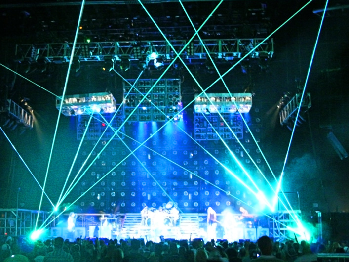 The Family Values tour crosses the USA and Canada with three high-powered Lightwave Prism Series Lasers. Lasers are controlled by DMX from full-size Lightwave Laser Servers, eliminating the need for a dedicated live laser operator.