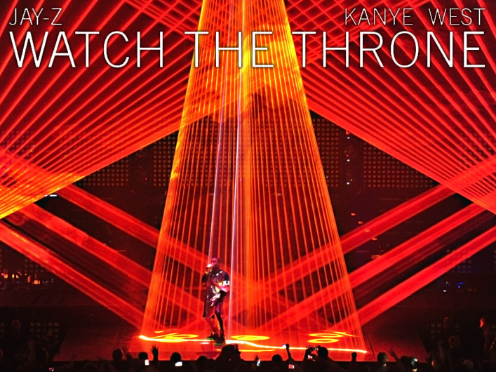Jay-Z and Kanye West choose Lightwave International for impressive and reliable laser special effects on the Watch the Throne Tour.