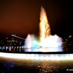 On June 7, 2013 Pittsburgh's Point State Park fountain rejoined the skyline with the help of Yvette Mattern and Lightwave International. The 150-foot water spout – symbolic of Pittsburgh the way the Gateway Arch identifies St. Louis or the Golden Gate Bridge means San Francisco – has been shut down the past four years for refurbishing. To celebrate the return of the iconic fountain, a stunning array of rainbow laser light physically connects the fountain with PPG Place, the crown jewel of Pittsburgh's skyline. Lightwave International was chosen by Riverlife and the Pittsburgh Cultural Trust to punctuate this important moment in city history. The laser display lasts three nights and also kicks off the Three Rivers Arts Festival.