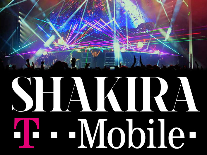 Colombian superstar Shakira gave a free concert in collaboration with T-Mobile using Lightwave International lasers.