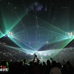Jay-Z performs with Lightwave International's laser special effects and audience scanning