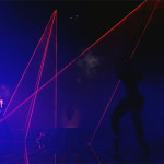 X-Factor UK stage is lit up with Lightwave International's incredible full color lasers with Kelly Rowland