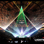 Incredible laser special effects for stage, concert, and touring are provided by Lightwave International on the Watch the Throne World Tour with Jay-Z and Kanye West
